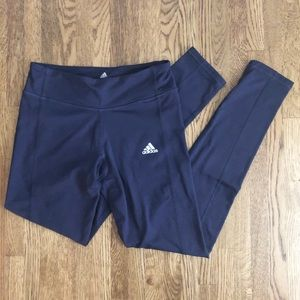 Adidas Purple Fleece Leggings Yoga Pants Sz S